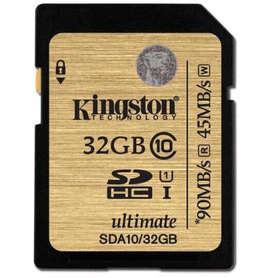 金士顿(Kingston) 32GB UHS-I Class10 SD U1高速存储卡 土豪金 读速90MB/s