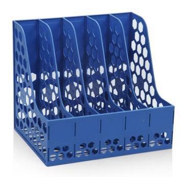 广博(GuangBo)五联文件框/资料架/文件栏加固型 蓝色WJK9238
