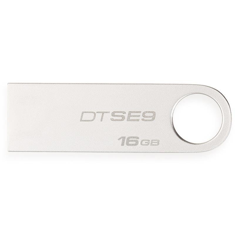 金士顿(Kingston)DT SE9H 16GB 金属U盘 迷你型车载U盘 银色亮薄