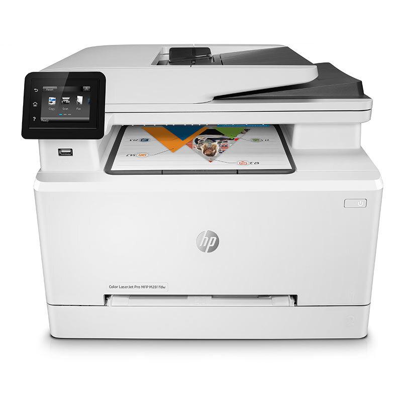 惠普(HP)Colour LaserJet Pro M281fdw彩色激光多功能一體機(打印 復印 掃描 傳真)(三年延保)