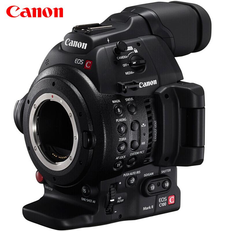佳能(Canon)EOS C100 Mark II 高清电影摄像机 C100 mark II 高端摄影机 电影机