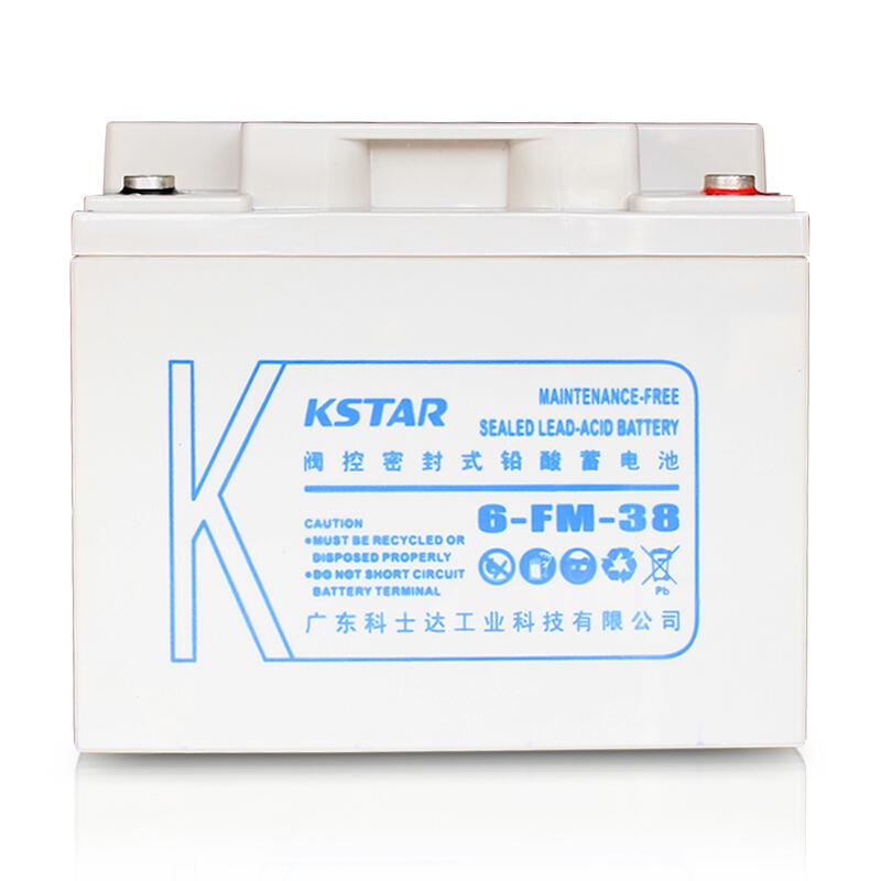 科士达(KSTAR)12V38AH 铅酸蓄电池 UPS不间断电源 6-FM-38
