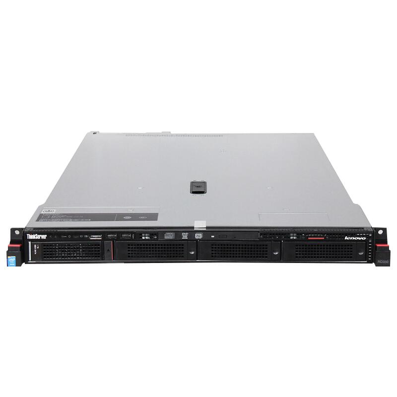 "联想(Lenovo)TS RD350,1xE5-2609v4,8GB DDR4, 8x2.5""盘位, 300G 10K SAS, R500 Raid0,1, 550W 白金, DVD 1U机架服务器"