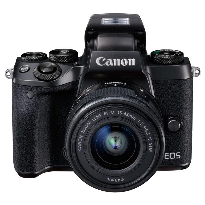 佳能(Canon)微单 EOS M5 (EF-M 15-45mm f/3.5-6.3 IS STM)(触控翻转LCD 专业电子取景器 全像素双核对焦)