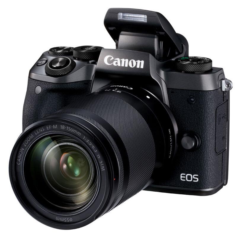 佳能(Canon)微单EOS M5 (EF-M 18-150mm f/3.5-6.3 IS STM)套机(触控翻转LCD 专业电子取景器 全像素双核对焦)