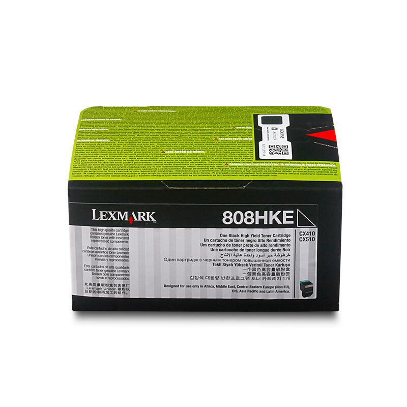 利盟(Lexmark)黑色高容量粉盒80C8HKE (适用于:CX410/510)
