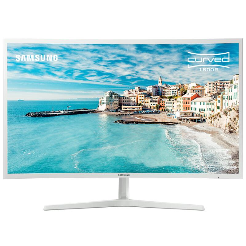 三星(SAMSUNG)31.5英寸 1800R曲率 广视角可壁挂 HDMI/DP高清接口 液晶电脑显示器(C32F395FWC)
