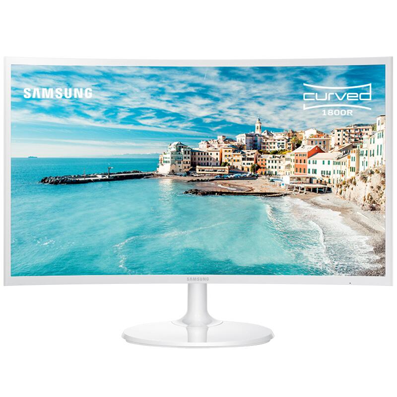 三星(SAMSUNG)27英寸1800R曲面 广视角微边框 HDMI高清接口 电脑液晶显示器 (C27F391FHC)