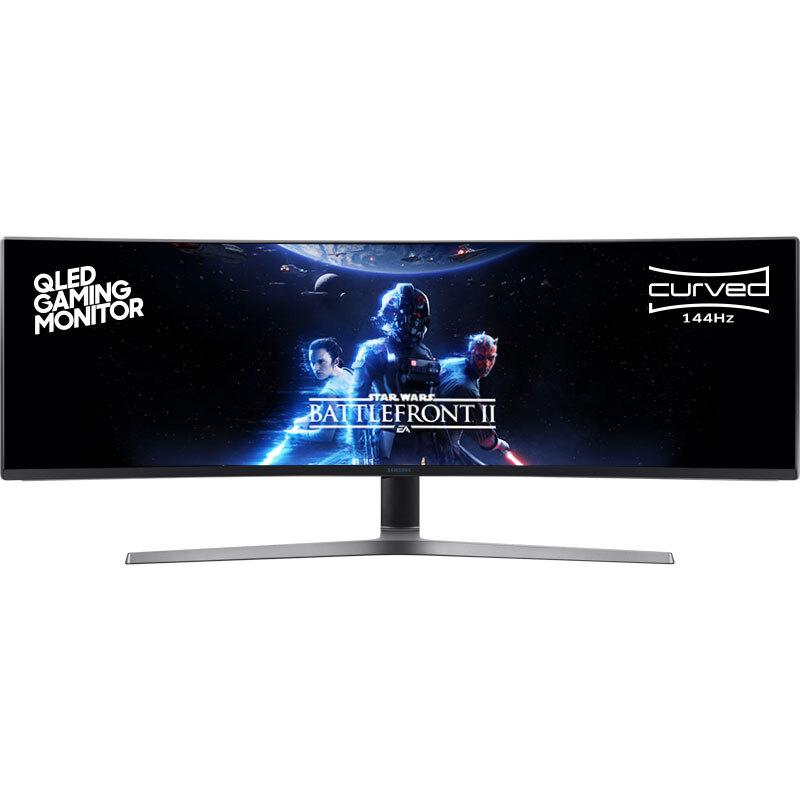 三星(SAMSUNG) 48.9英寸超级大屏 144Hz刷新曲面 HDR 量子点技术 全接口 电竞显示器( C49HG90DMC )