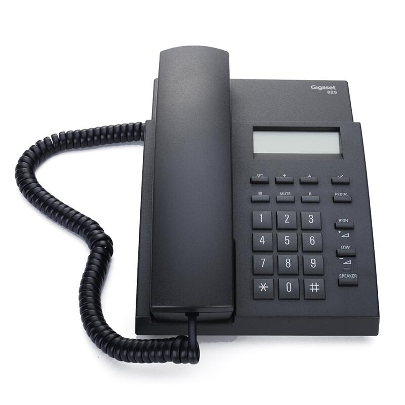 西门子(SIEMENS)Gigaset 825 有绳电话机办公座机 家用电话机 黑色