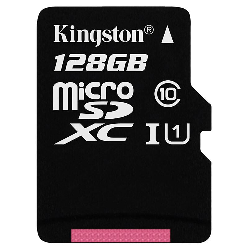 金士顿(Kingston)128GB 内存卡 高速行车记录仪 TF(Micro SD) Class10 UHS-I 手机存储卡