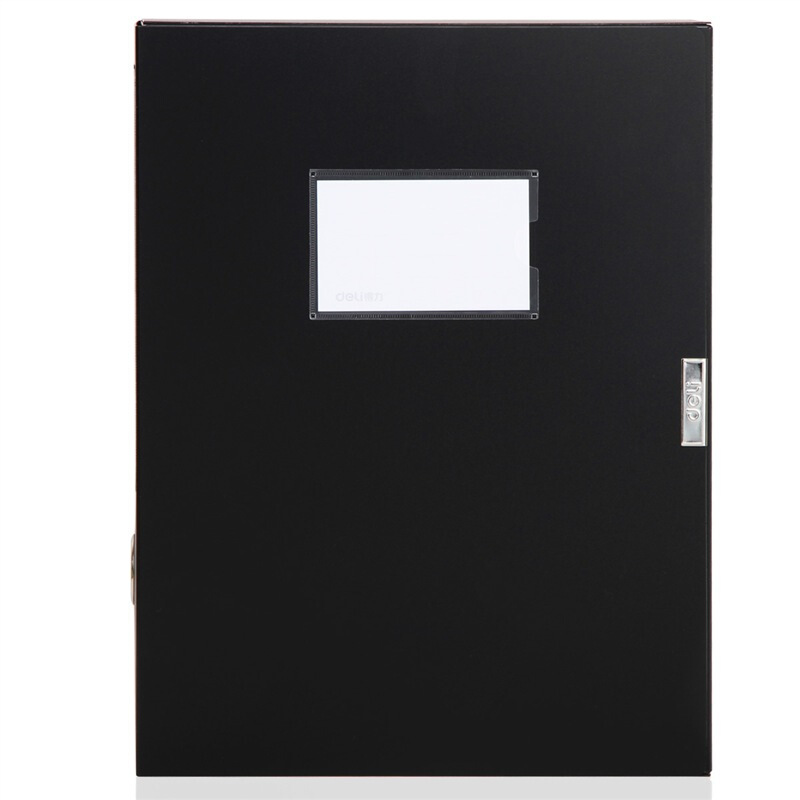 得力(deli)55mm加厚大容量粘扣檔案盒 A4文件盒資料盒 5603