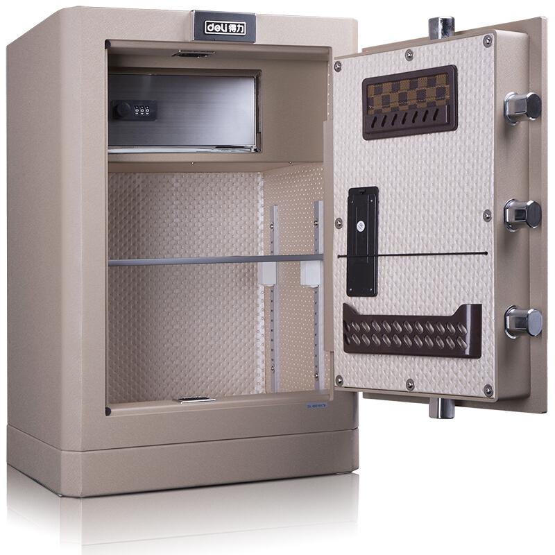得力 (deli)保险柜家用全钢办公保险箱3C认证大型床头保险柜入墙 4043 内部空间H 55CM
