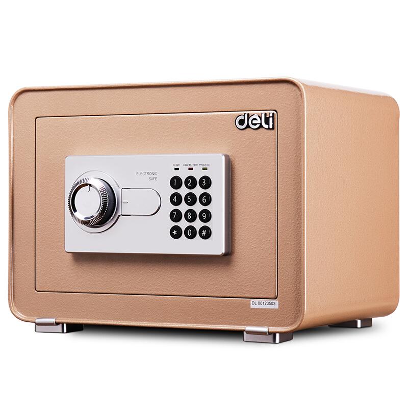 得力(deli)电子密码保管箱/保险箱/保险柜系列 4082 35cm