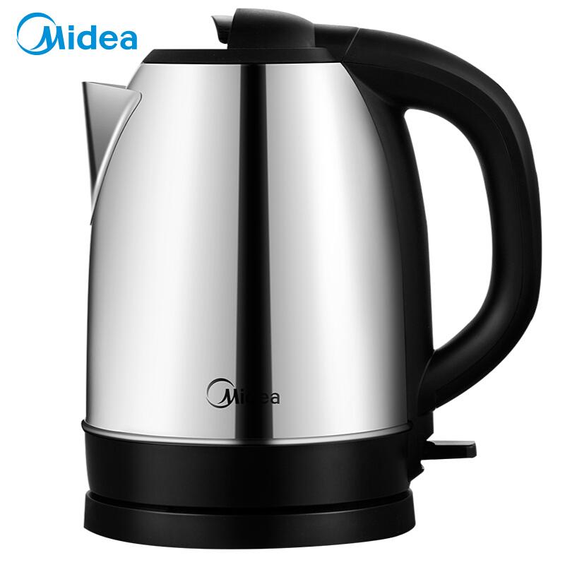 美的(Midea)电热水壶 全钢优质温控电热水壶电水壶(1.7L) 金属色MK-SJ1702