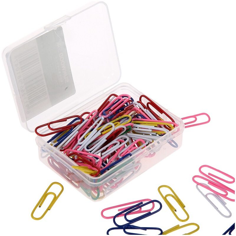 三木(SUNWOOD) 8104 彩色回形針 100枚/盒 10盒裝 辦公文具