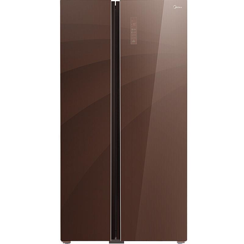 美的(Midea)539升玻璃面板多维智能双变频风冷对开门冰箱温湿精控铂金净味伯爵咖BCD-539WKGPZM(E)