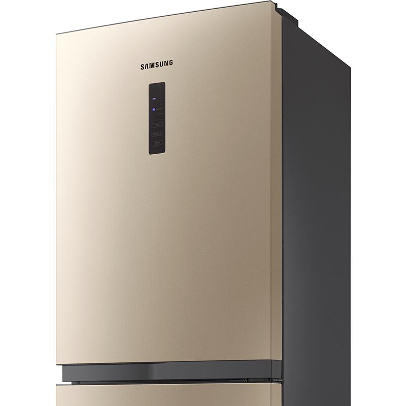 三星(SAMSUNG)215升直冷智能变频双门冰箱 电脑控温 全开式抽屉 节能静音RB21KMFH5SK/SC(金)