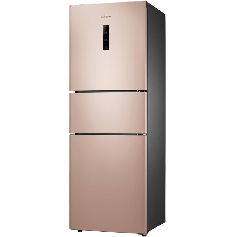 三星(SAMSUNG)280升风冷无霜智能变频三门冰箱 节能静音 宽带变温 速冻RB27KCFJ0FE/SC (金)