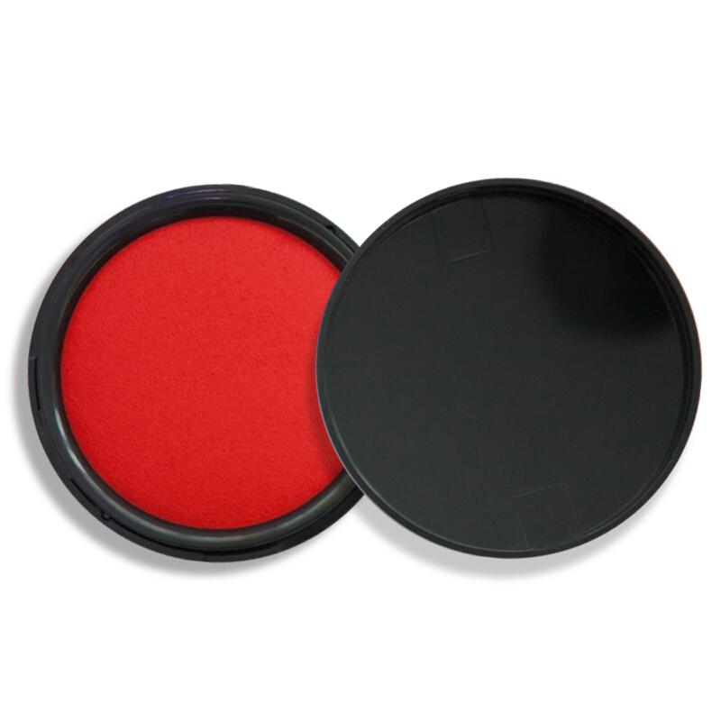 广博(GuangBo)φ95mm秒干印台印泥/财务办公用品 红色YT9138