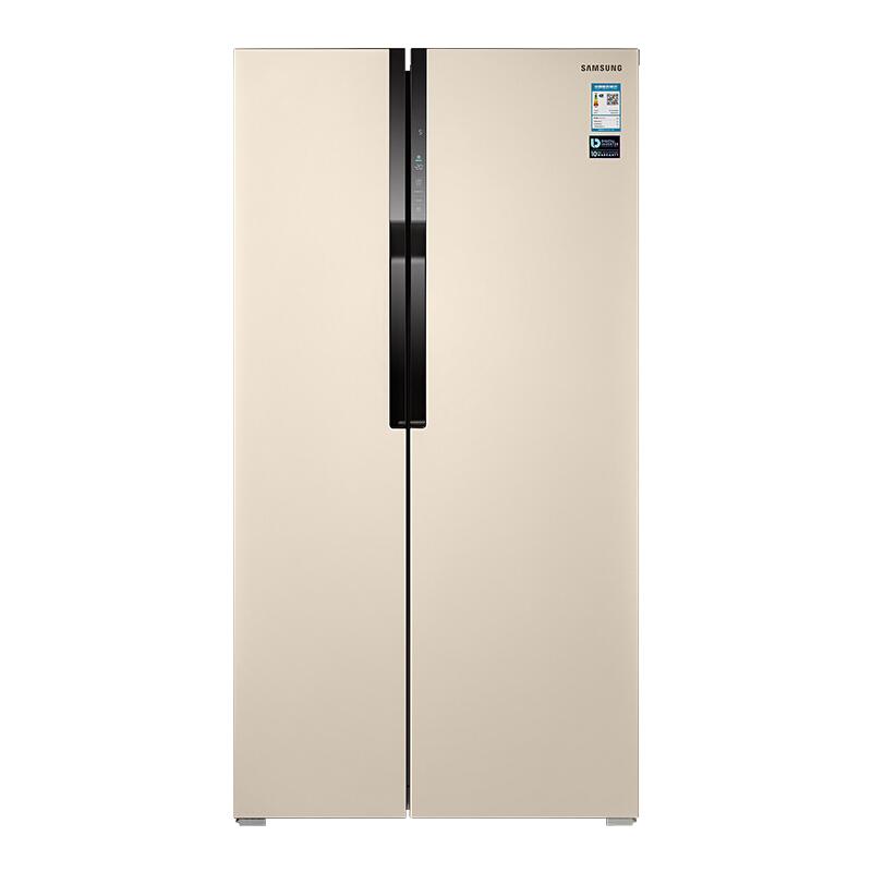 三星(SAMSUNG)565升大容量风冷无霜双循环对开门冰箱 智能变频 金属面板防指纹RS55KBHI0SK/SC(金)