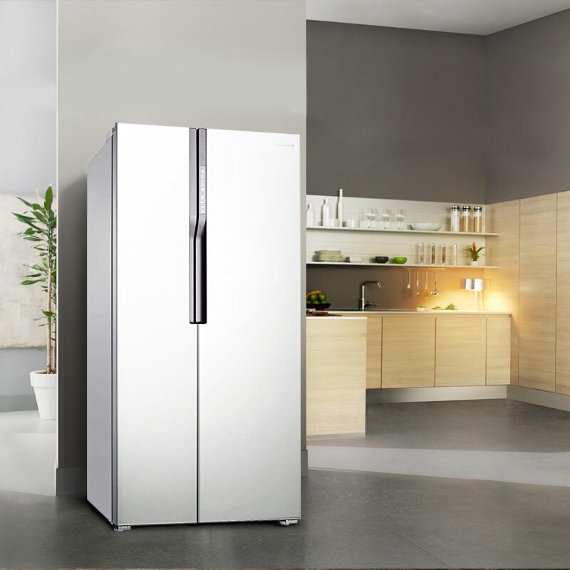 三星(SAMSUNG)565升风冷无霜对开门冰箱 保湿双循环 智能变频 节能静音RS55KBHI0WW/SC(白)