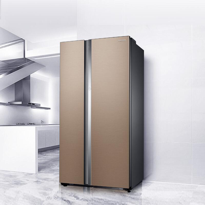 三星(SAMSUNG)641升大容量风冷无霜对开门冰箱 蝶门美食窗 精致保鲜 节能静音 RH62MAG00DL/SC