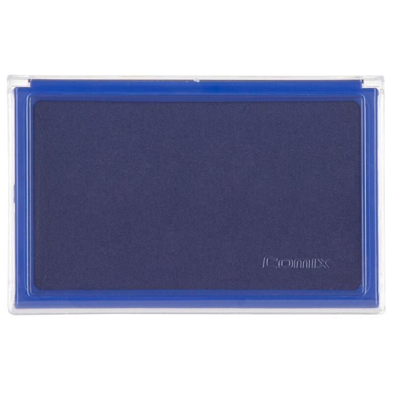 齐心(COMIX)B3720 方形快干印台 蓝色、红色