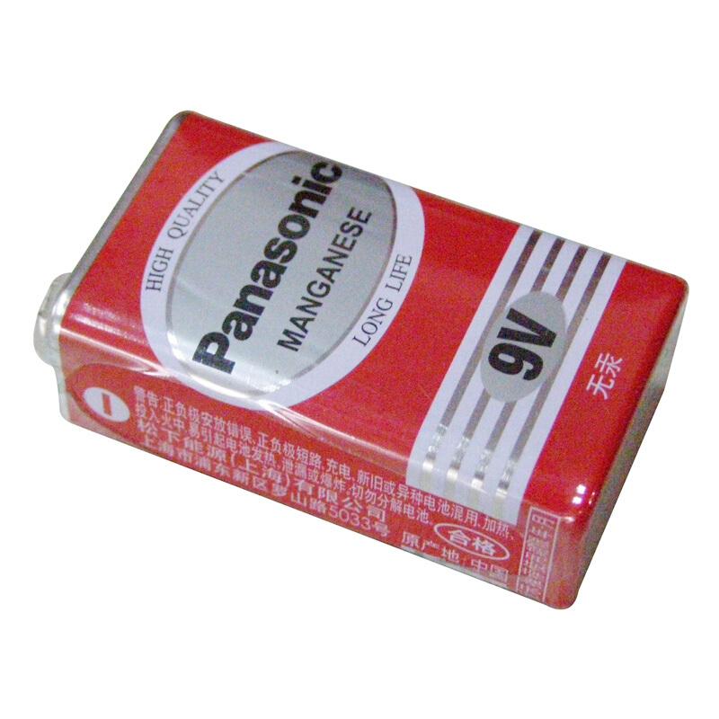 松下(Panasonic) 9V方形电池 6F22 12个/盒