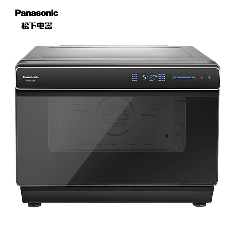 松下(Panasonic) 电烤箱 NU-SC300B 蒸烤箱 直喷三段蒸汽 平面烘烤技术 30L容量 家用多功能 智能菜单