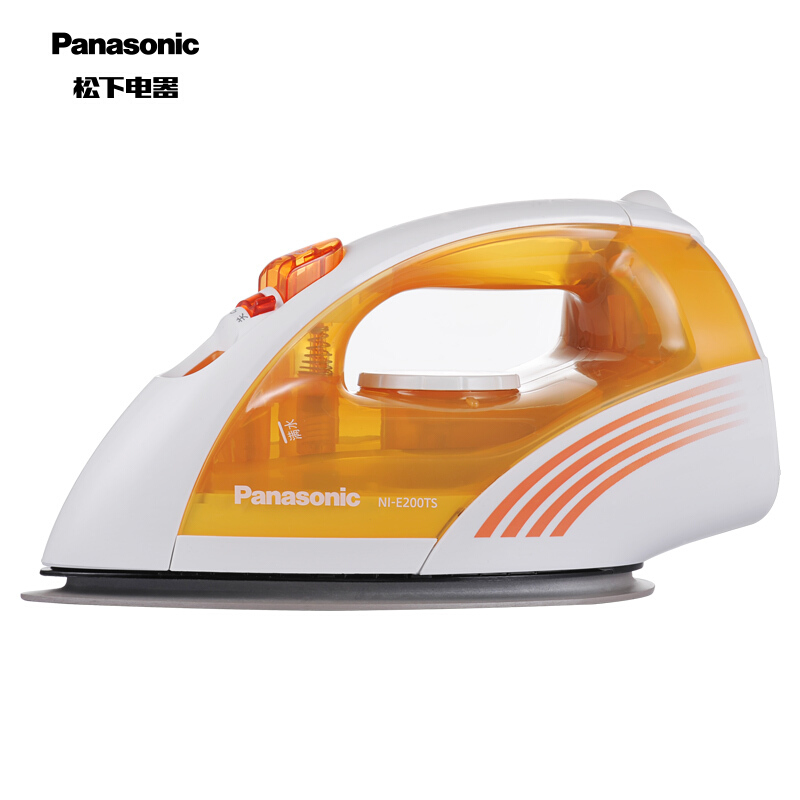 松下(Panasonic)电熨斗家用 手持蒸汽挂烫机 垂直熨烫 6档温度调节 NI-E200TS 黄色