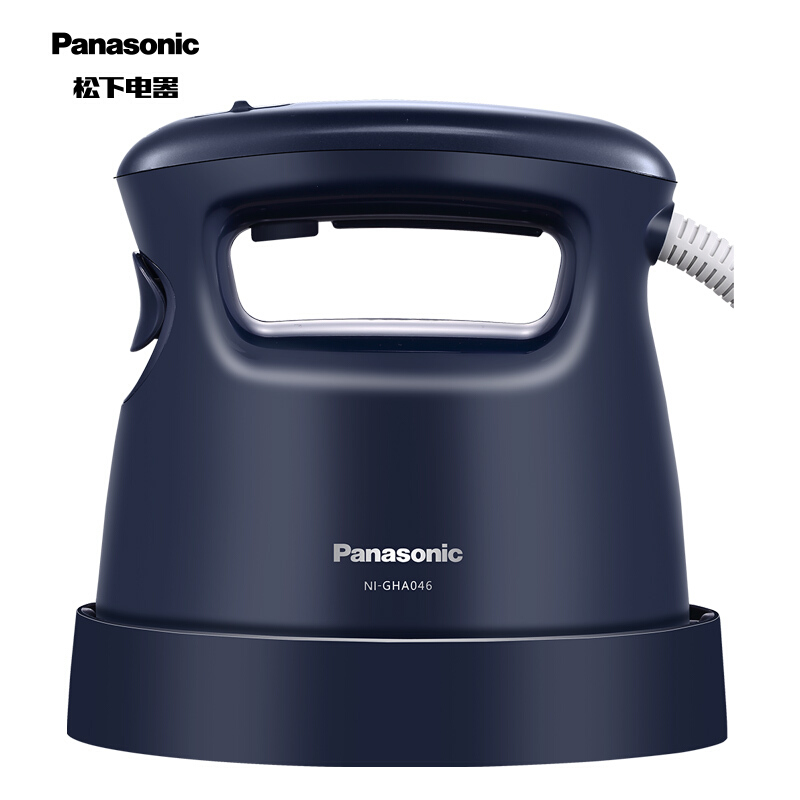 松下(Panasonic)电熨斗家用 手持蒸汽挂烫机 高温蒸汽杀菌 30秒快速启动 NI-GHA046-DA