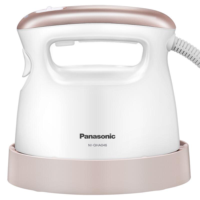 松下(Panasonic)电熨斗家用 手持蒸汽挂烫机 高温杀菌 30秒快速启动 礼盒套装 NI-GHA046-PJ