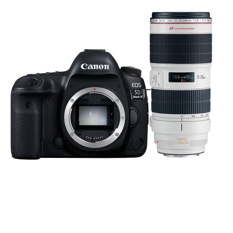 佳能(Canon)5D Mark IV 專業全畫幅單反相機套機 70-200 F2.8 IS USM II 套機