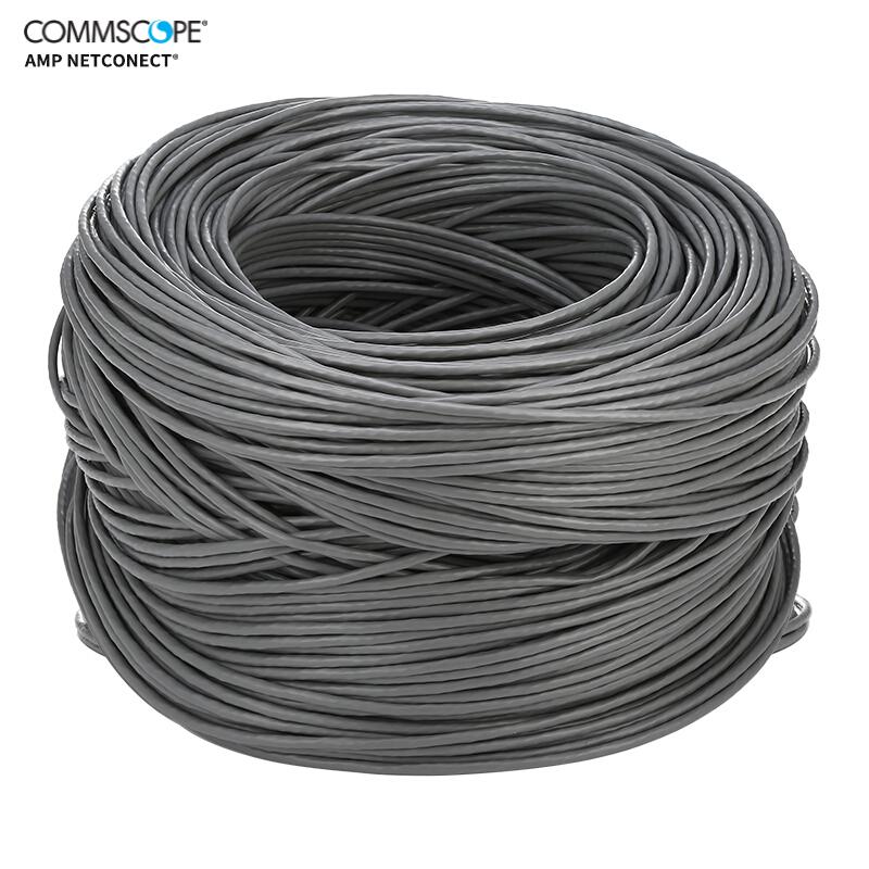 康普 安普網聯 原裝超五類網線 非屏蔽網線箱線 藍箱 外徑4.6mm 305米 6-219586-4