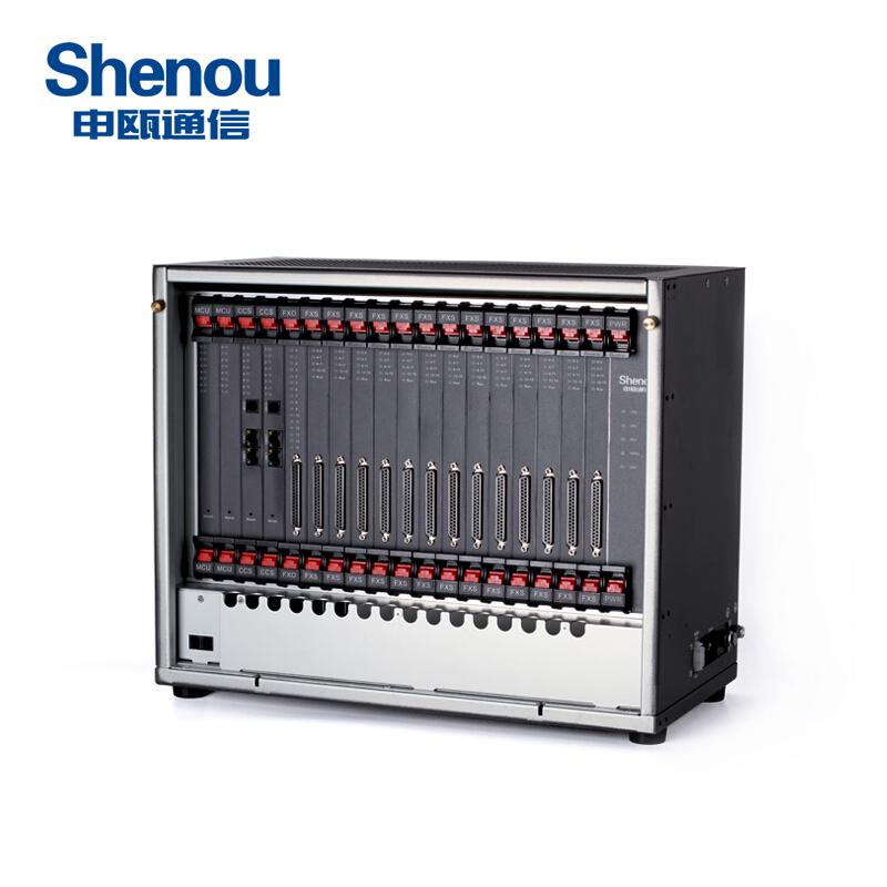 申甌(Shenou)SOT600KII數字程控電話交換機16外線進16-208分機出集團語音酒店總機 16外線208內線