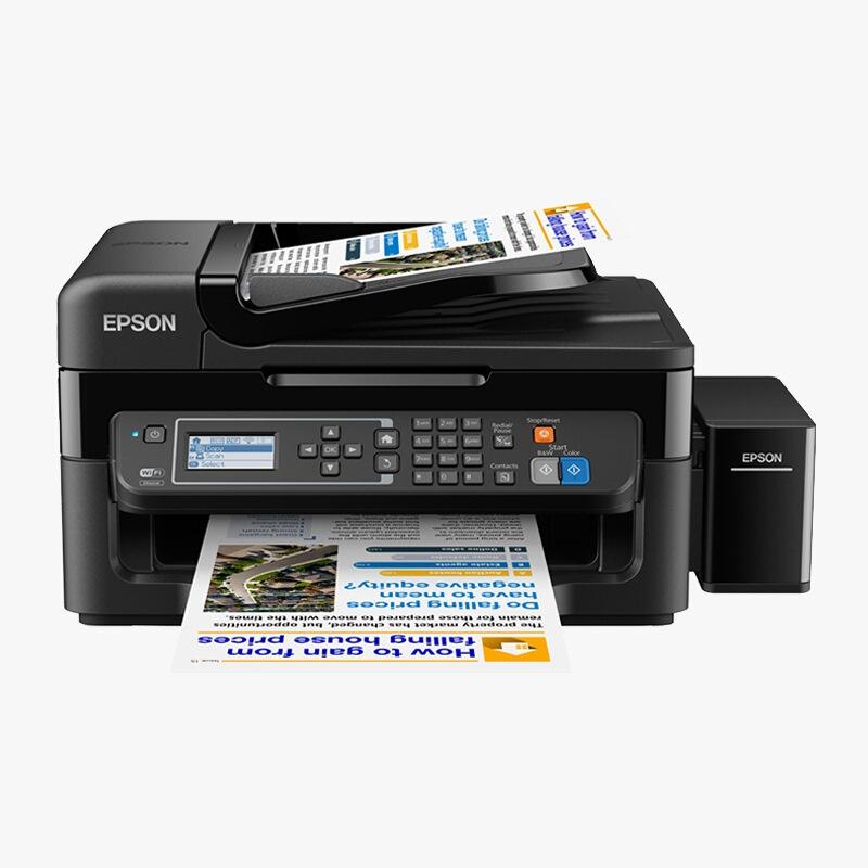 愛普生(EPSON)L565 墨倉式 網絡傳真打印機一體機(打印 復印 掃描 傳真 云打印 無線直連)