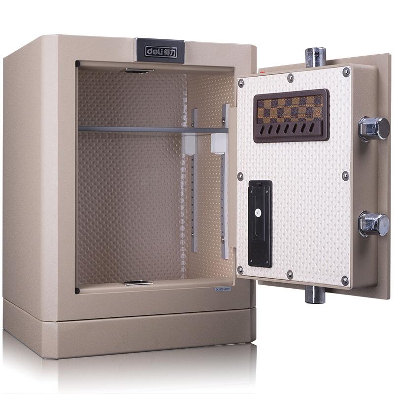 得力 (deli)保險柜家用全鋼辦公保險箱3C認證大型床頭保險柜入墻 4042 內部空間H45CM