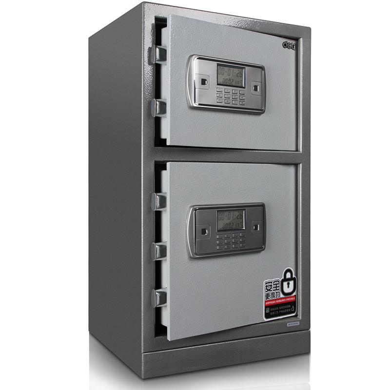 得力 deli)3647 保險箱 電子密碼防盜保險柜保管箱 2層保險柜