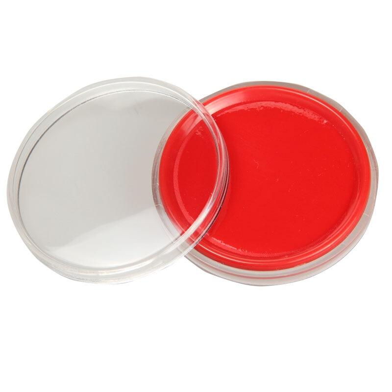 三木(SUNWOOD) 6281 Φ65mm圓形透明外殼快干印臺 紅色 辦公文具