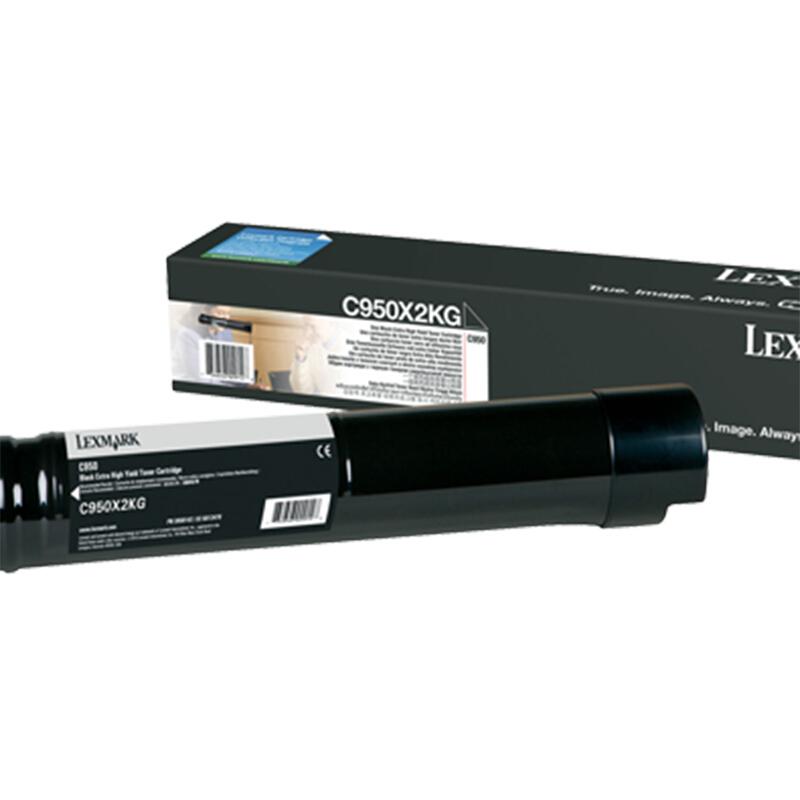 利盟(Lexmark)C950X2KG黑色高容量碳粉盒 (適用C950de機型)
