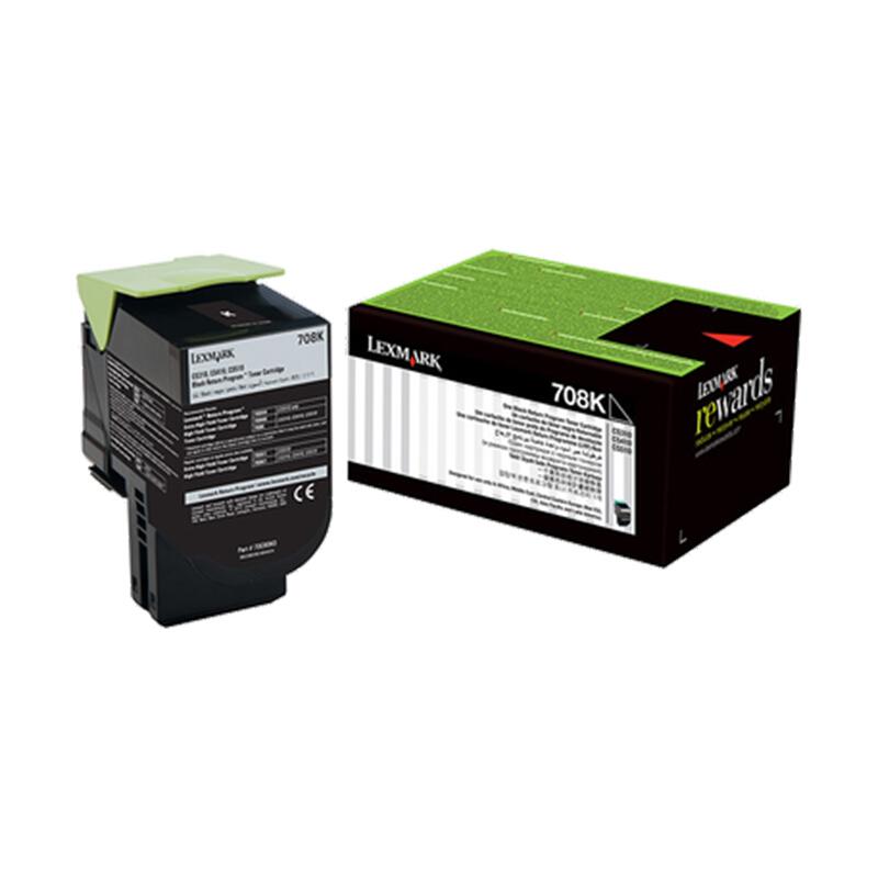 利盟(Lexmark)70C80K0 黑色粉盒(適用于:CS310/410/510)