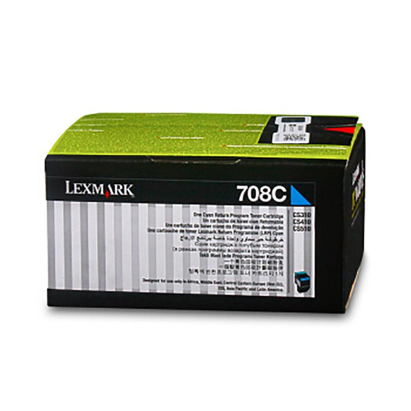 利盟(Lexmark)70C80C0 青色粉盒(適用于:CS310/410/510)