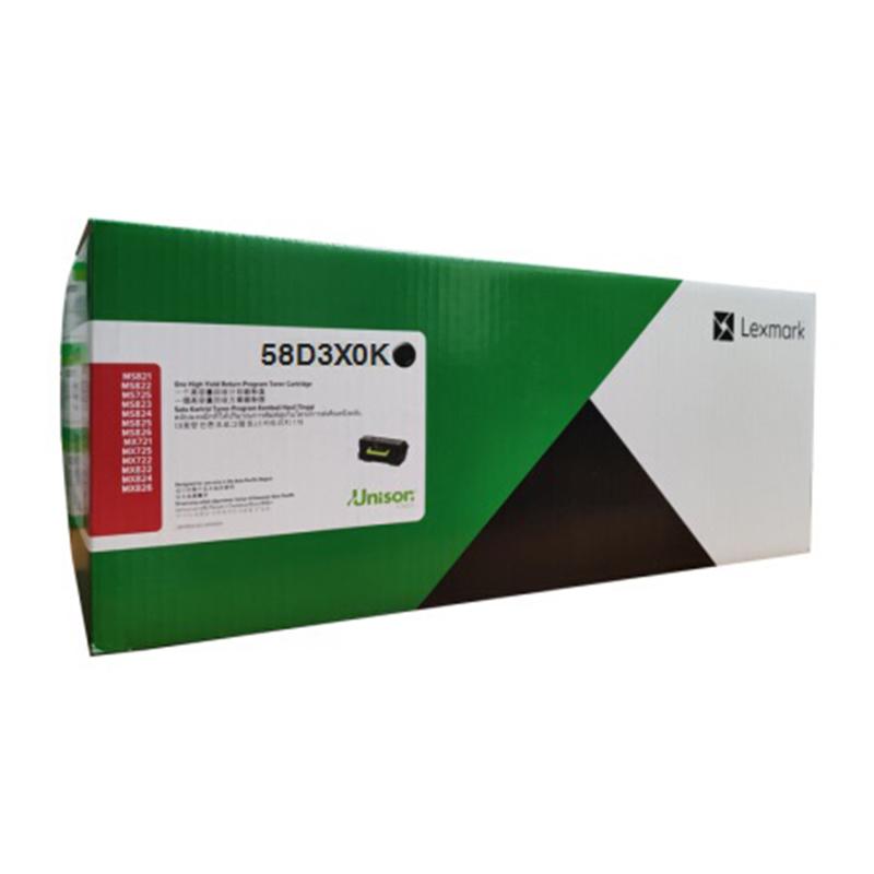 利盟(Lexmark)58D3X0K 黑色粉盒(適用于:利盟MS823dn )